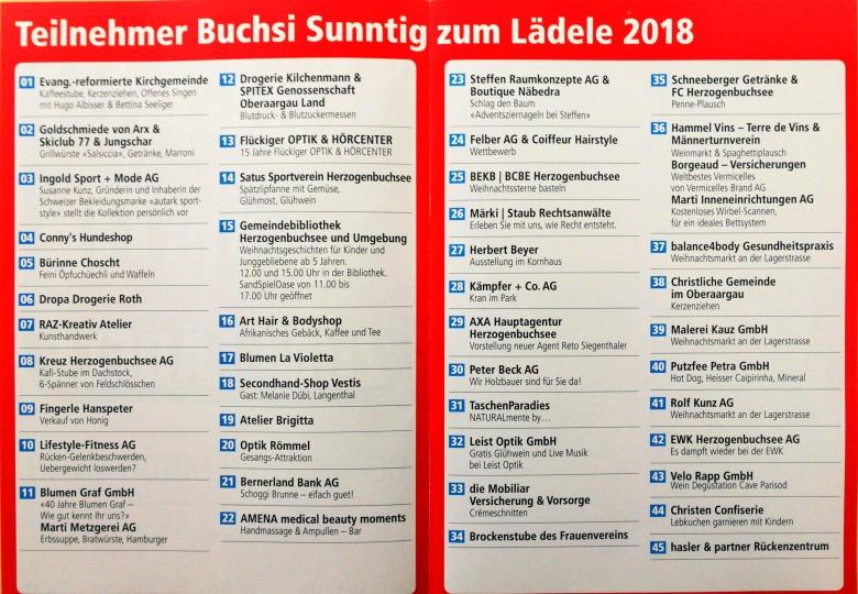 Teilnehmner Buchsi Sunntig 2018